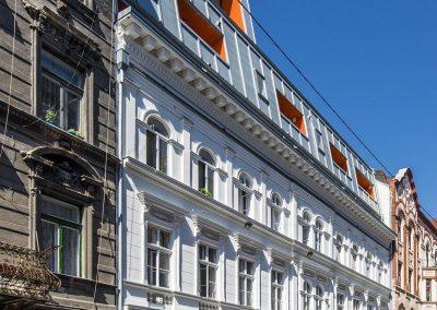 Budapest VI. kerület, Csengery utca 74., tetőtérbeépítés és rekonstrukció